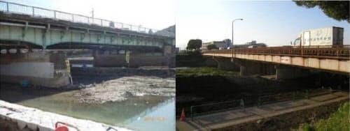勧進橋(左)と京川橋(右)(写真:国土交通省京都国道事務所、京都市)