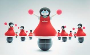 村田製作所が開発したチアリーディングのロボット