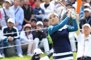 日本女子オープンを制した田仁智は実に堂々としており、21歳にして風格すら感じさせる