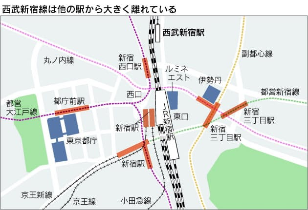 駅 西武 新宿 残りわずか400メートル、消えた西武新宿線の新宿駅乗り入れ計画