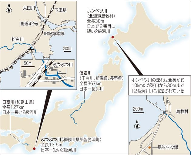 13.5mでも「2級河川」 和歌山に日本一短い川|旅行・レジャー|NIKKEI ...
