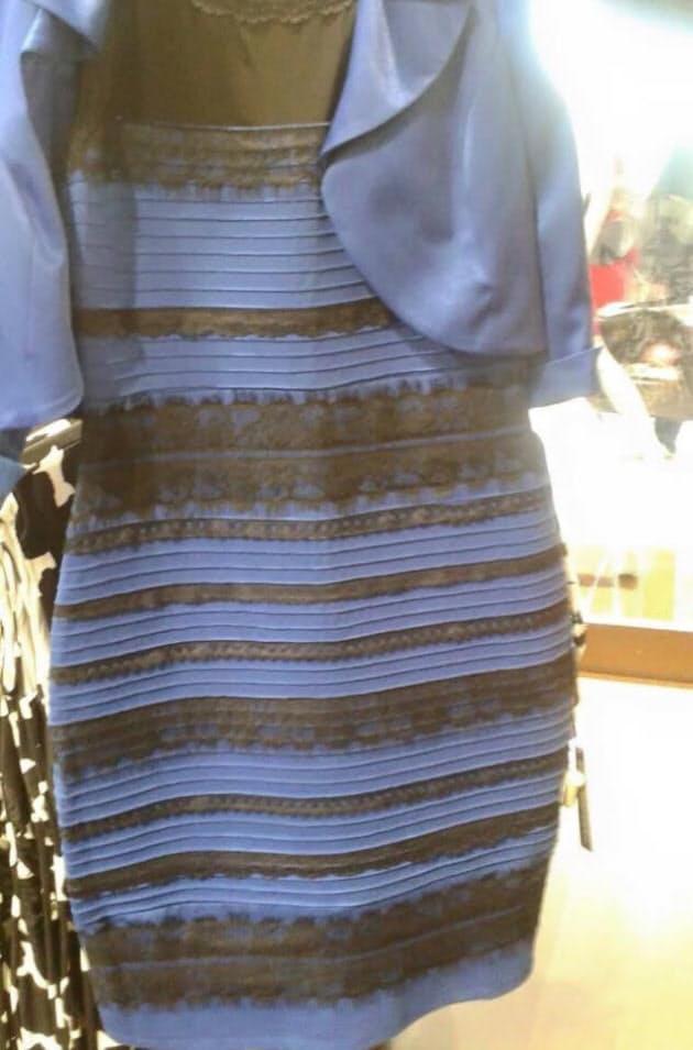 錯視の不思議、ドレスは青か金か カギは周囲の光|NIKKEI STYLE
