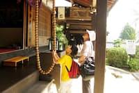 息子8歳のとき、山口県の瑠璃光寺で