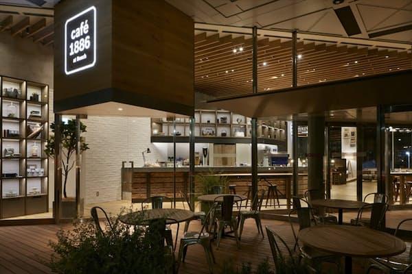 2015年9月10日にオープンした 「cafe1886 at Bosch」。店舗所在地は、東京都渋谷区渋谷3-6-7。面積167.53平方メートル、85席(店内69席、テラス16席)。営業時間は月~金曜日が8~22時、土曜が11~22時、日曜・祝日が11~20時