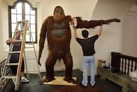 ギガントピテクスのレプリカ。米サンディエゴ人類博物館にて撮影(PHOTOGRAPH BY ZUMA/ALAMY)