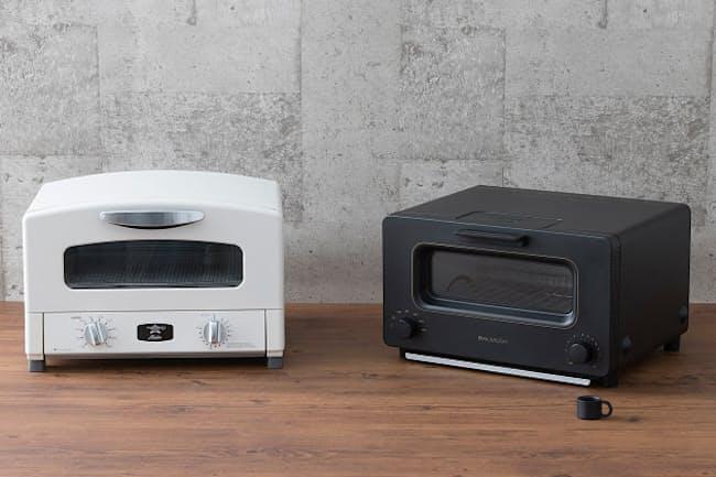 「アラジン グラファイト グリル&トースター」(写真左)と「BALMUDA The Toaster」