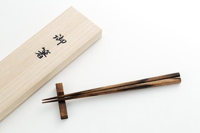 下地建具店 黒柿箸 1万6200円(税込み)