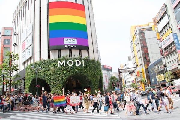 過去最大の動員数となった「東京レインボープライド2016」(写真提供:TRP2016)