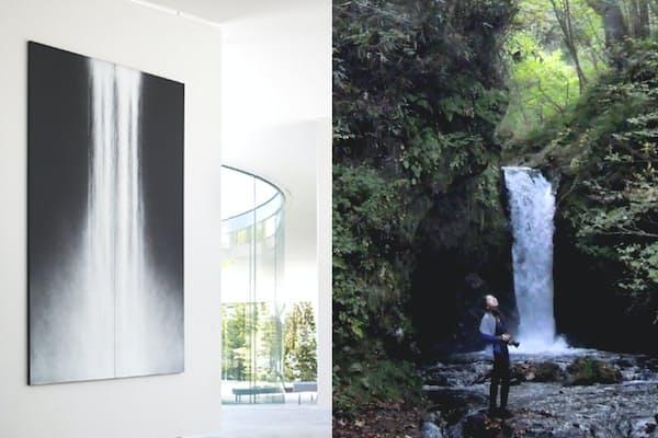 写真左:阿野太一 (C)軽井沢千住博美術館