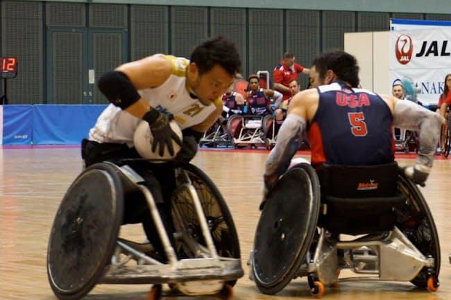 車いすラグビー日本代表は格上の米国代表を破った(千葉市の千葉ポートアリーナ)