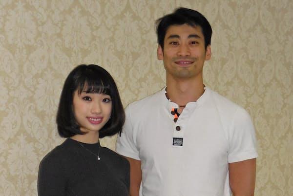 英国ロイヤルバレエ団のプリンシパル昇格が決まった平野亮一さん(右)と高田茜さん