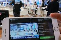 「アベマTV」のニュース番組を生放送するスタジオ(東京・六本木のテレビ朝日)