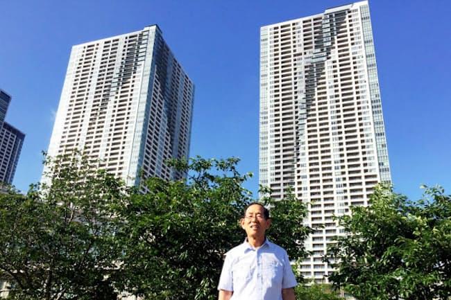 「新しい基準ができてトラブルがなくなった」と話す村上正健・前理事長(東京都中央区のザ・トーキョー・タワーズ)