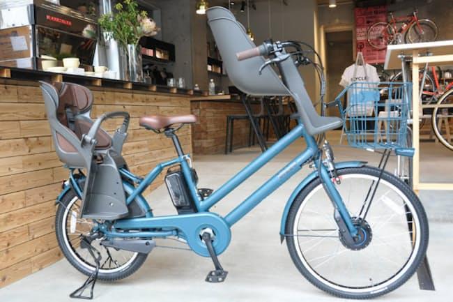 ブリヂストンサイクルの新型電動アシスト自転車のプロトタイプ。正式名称はまだ非公表