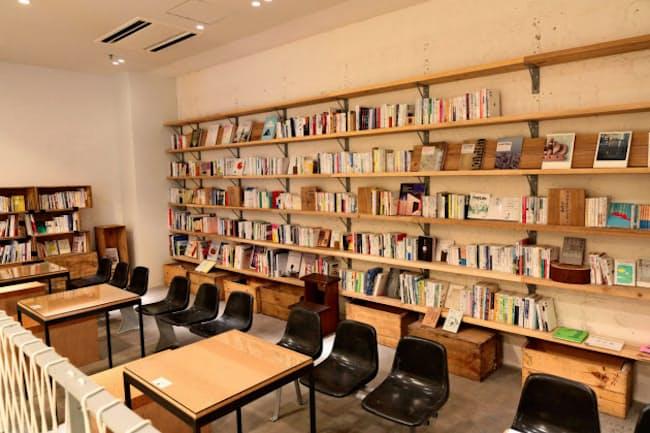 青山ブックセンターと組んで開いた図書館では無料で書籍を貸し出す