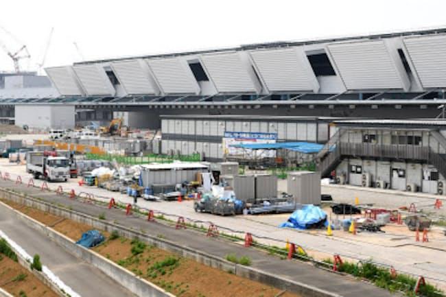 豊洲市場の整備費用は約5900億円(東京都江東区)