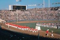 映画「東京オリンピック」の一場面=日本オリンピック委員会提供