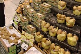 人気のキウイフルーツは売り場でも目立つ場所に(東京都葛飾区のイトーヨーカドーアリオ亀有店)