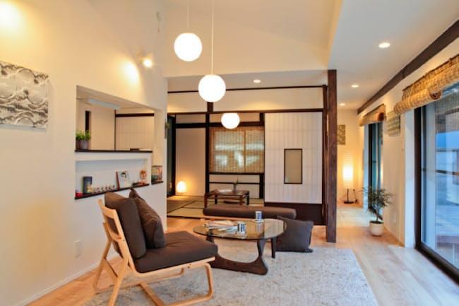 和室や柱などで質感を高め、採算向上につなげるケースも(東京都大田区が民泊第1号として認定した旅行サイト運営会社、とまれるの物件)