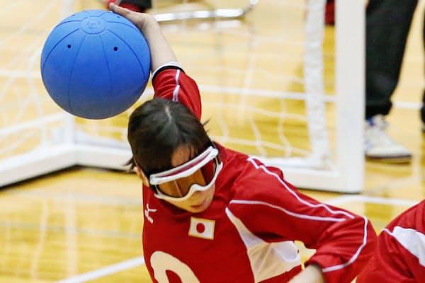 ゴールボール女子日本代表の安達阿記子選手