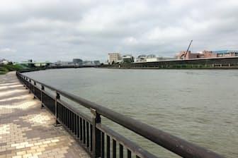 荒川区を流れる「昔の」荒川である隅田川。今でも荒川と呼ぶ人もいるそうだ
