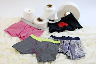 包帯生地の持つ柔らかさと伸縮性で人気を集める「包帯パンツ」