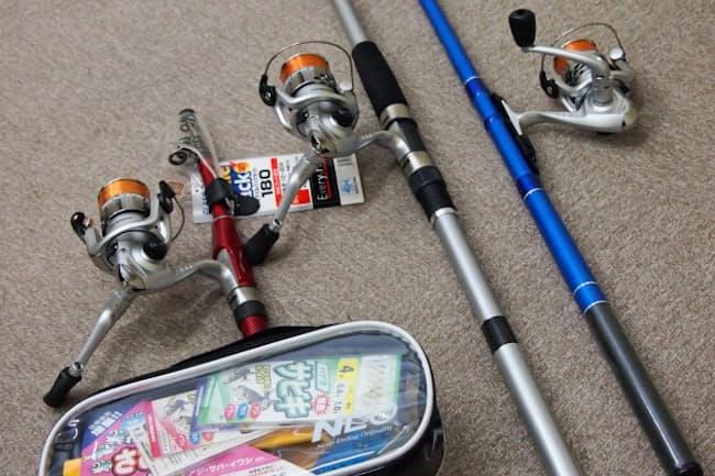 初心者向けの竿とリールのセットは浜名湖の魚に合ったしなりを追求した