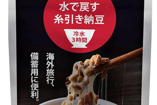 「水で戻す糸引き納豆」は海外駐在の日本人向けに通販サイトで販売する