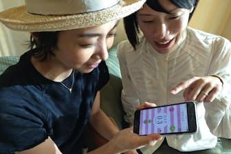 西部さん(右)と黒田さんは、治療歴を管理するアプリなどを開発する予定だ