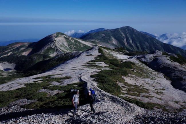 北アルプス後立山(うしろたてやま)連峰