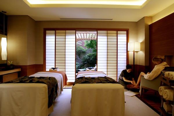 自然を感じながらくつろいだ時間を過ごせるホテル椿山荘東京の「悠 YU,THE SPA」(同ホテル提供)