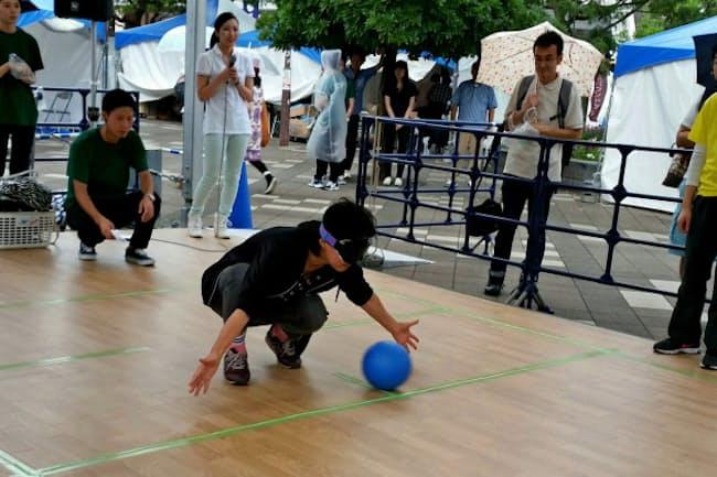 東京五輪・パラリンピックを見据えたボランティア団体のパラスポーツ応援イベントに参加(16年9月)
