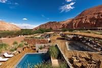アルト・アタカマ・デザート・ロッジ&スパはアンデスの村をモデルとして建てられた(Photo:Courtesy of the Alto Atacama Desert Lodge & Spa)