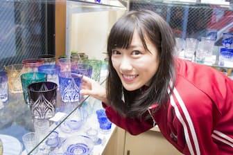 江東区亀戸にある「根本硝子工芸」さんで、江戸切子に挑戦中です!
