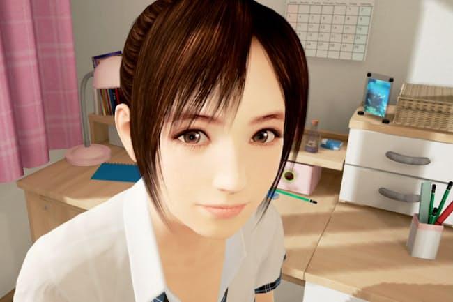 家庭教師になり、女子高生キャラクターの宮本ひかりと交流するPS VRのゲーム「サマーレッスン」