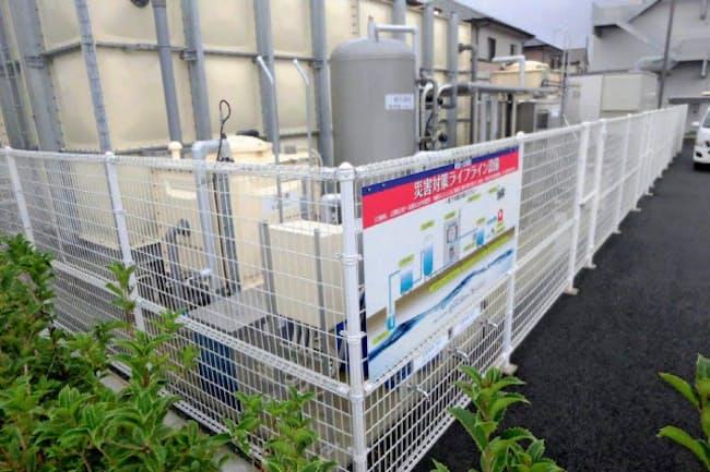災害時には近隣住民に地下水を提供する(熊本市の武蔵ケ丘病院が設置した井戸)