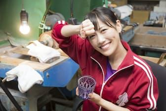ももいろトラディショナル第3シーズンは高城れにさんが東京の亀戸で江戸切子に挑戦しました