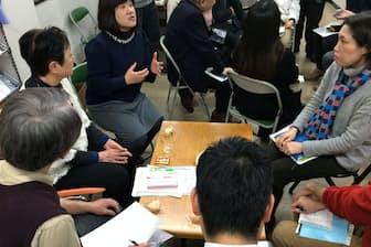 ひきこもりに悩む人などが親亡き後について話し合った(昨年12月、東京都豊島区の楽の会リーラ)