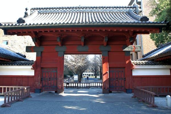 東京大学の赤門はかつて加賀藩の御守殿門だった(東京・文京)