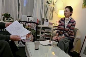 ストーカー加害者のカウンセリングをするNPO法人ヒューマニティの小早川明子理事長(東京都内)