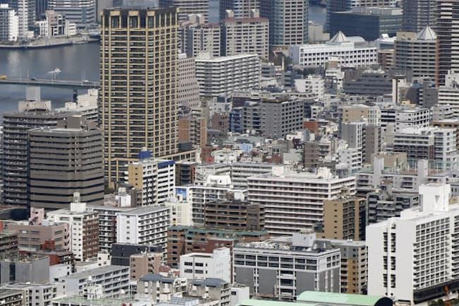 東京・臨海部のマンション群(東京都中央区)
