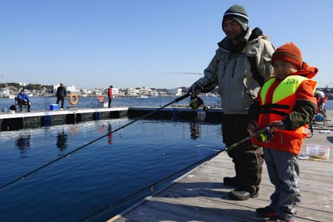 子どもでも釣りが楽しめる手軽さが人気だ