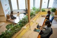 キッズスペース付きオフィスの利用者の職業は様々だ(東京都豊島区のRYOZAN PARK 大塚)