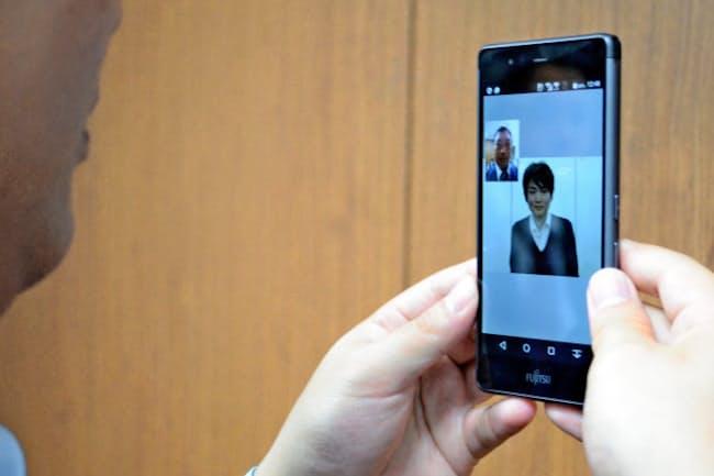 新サービスでは顔を見ながら通訳者と話ができる