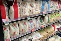 スーパー店頭にはブランド米がたくさん並んでいるが……