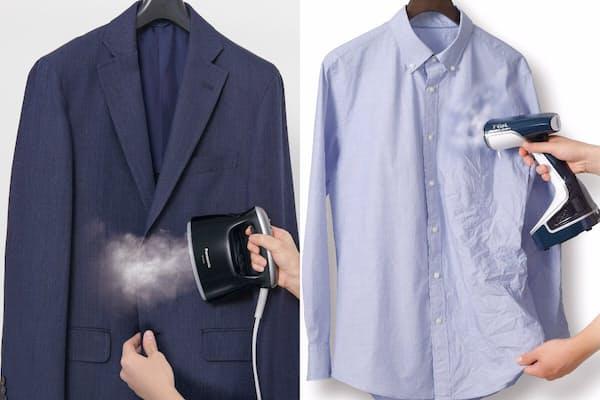 最近、人気の衣類スチーマー。アイロンより手軽に使えるのが魅力だ