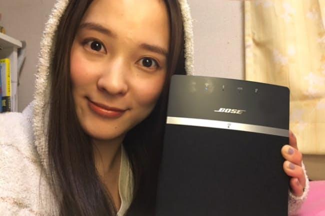 ボーズの「Sound Touch 10 speaker」のおかげで、Spotifyのプレミアム会員になってしまったという奈津子さん