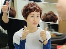 美容サロンでヘアカットしてもらった香港人観光客のキャンディーさん(大阪・心斎橋)