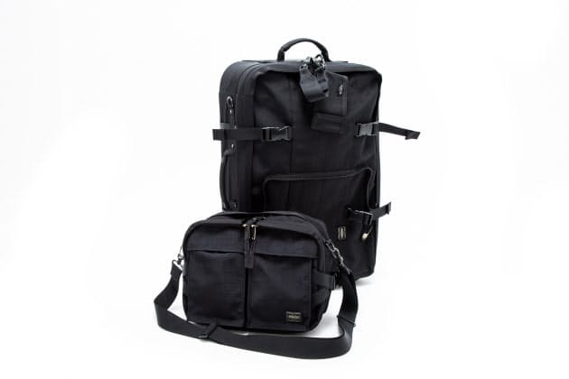 a9323e4b7563 ケース前面に着脱可能なショルダーバッグが付く。ケース装着時は大容量のポケットとして、現地ではサブバッグとして大活躍