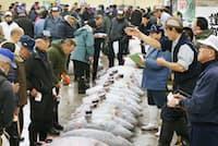 移転延期に伴う課題は築地市場の関係者に重くのしかかる(1月5日、東京都中央区の築地市場)